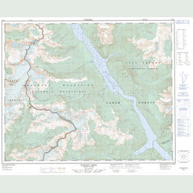 Canadian Topo Map - Howard Creek - Map 083D07