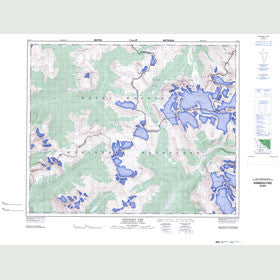 Canadian Topo Map - Athabasca Pass - Map 083D08