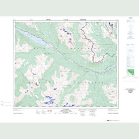 Canadian Topo Map - Lucerne - Map 083D15