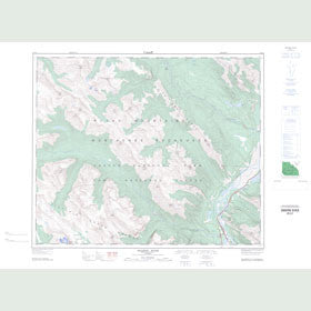 Canadian Topo Map - Snaring River - Map 083E01