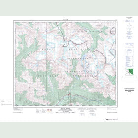 Canadian Topo Map - Mount Robson - Map 083E03
