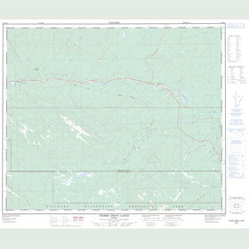 Canadian Topo Map - Pierre Greys Lakes - Map 083E15