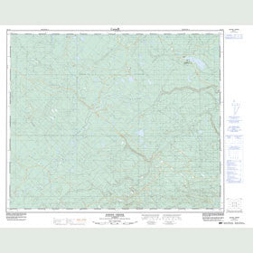 Canadian Topo Map - Raven Creek - Map 083F01