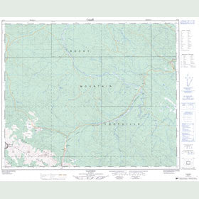 Canadian Topo Map - Cadomin - Map 083F03