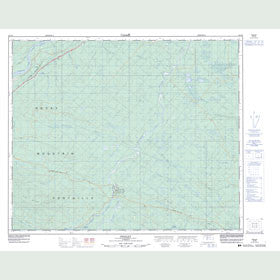 Canadian Topo Map - Pedley - Map 083F06