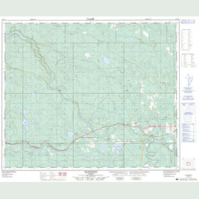 Canadian Topo Map - Bickerdike - Map 083F10