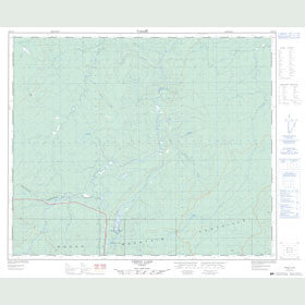 Canadian Topo Map - Gregg Lake - Map 083F12