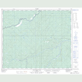 Canadian Topo Map - Hightower Creek - Map 083F13