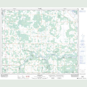 Canadian Topo Map - Tomahawk - Map 083G07