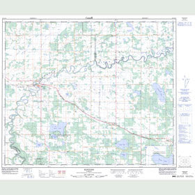 Canadian Topo Map - Sangudo - Map 083G15