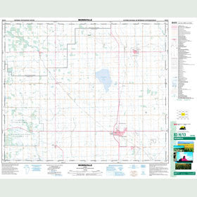 Canadian Topo Map - Morinville - Map 083H13