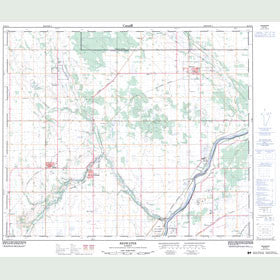 Canadian Topo Map - Redwater - Map 083H14