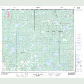 Canadian Topo Map - Victor Lake - Map 083I08