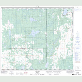 Canadian Topo Map - Coolidge - Map 083I12