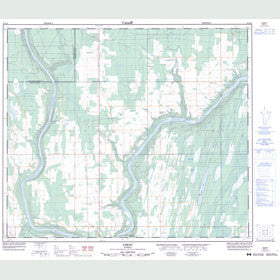 Canadian Topo Map - Sawdy - Map 083I14