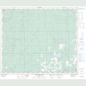 Canadian Topo Map - Christmas Creek - Map 083J06