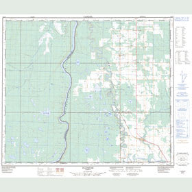 Canadian Topo Map - Flatbush - Map 083J09