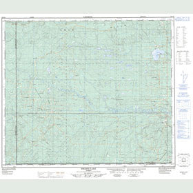 Canadian Topo Map - Swartz Lake - Map 083J12
