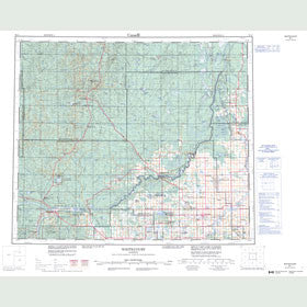 Canadian Topo Map - Whitecourt - Map 083J