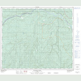 Canadian Topo Map - Windfall Creek - Map 083K01