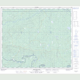Canadian Topo Map - Berland River - Map 083K03