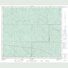 Canadian Topo Map - Two Creek - Map 083K08