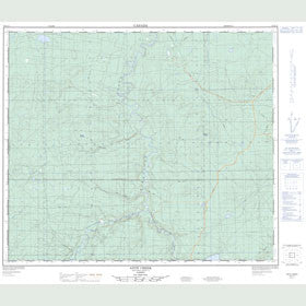 Canadian Topo Map - Ante Creek - Map 083K12