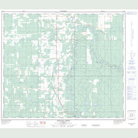 Canadian Topo Map - Asplund Creek - Map 083K14