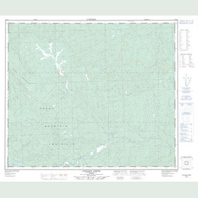 Canadian Topo Map - Chicken Creek - Map 083L06