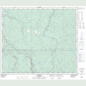 Canadian Topo Map - Latornell - Map 083L09