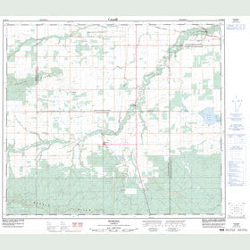 Canadian Topo Map - Woking - Map 083M10