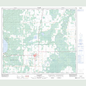 Canadian Topo Map - Valleyview - Map 083N03