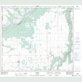 Canadian Topo Map - Tangent - Map 083N13