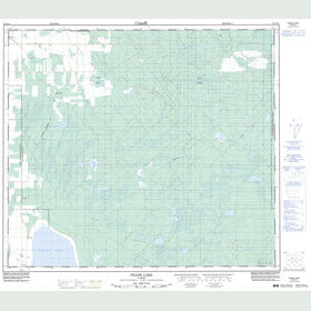 Canadian Topo Map - Frank Lake - Map 083N15