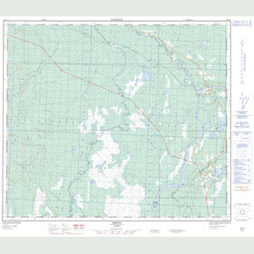 Canadian Topo Map - Smith - Map 083O01