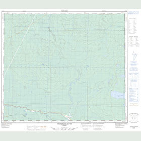Canadian Topo Map - Driftwood River - Map 083O08