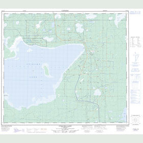 Canadian Topo Map - Utikuma Lake - Map 083O14