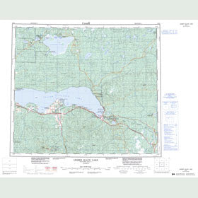 Canadian Topo Map - Lesser Slave Lake - Map 083O