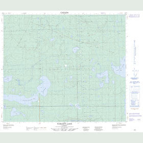 Canadian Topo Map - Fawcett Lake - Map 083P05