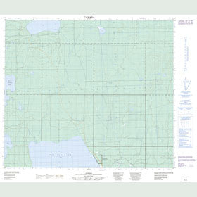 Canadian Topo Map - Rock Island Lake - Map 083P06