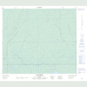 Canadian Topo Map - Eric Creek - Map 083P08