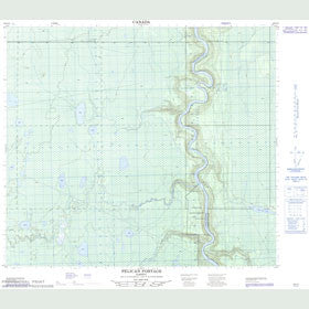 Canadian Topo Map - Pelican Portage - Map 083P15