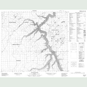 Canadian Topo Map - Livock River - Map 084A07