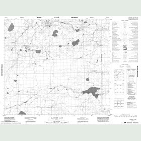 Canadian Topo Map - Blanchet Lake - Map 084A11