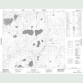 Canadian Topo Map - Grew Lake - Map 084A14