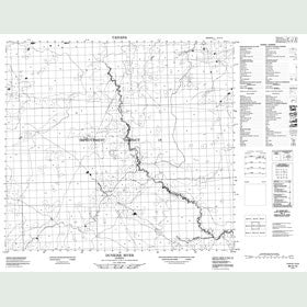 Canadian Topo Map - Dunkirk River - Map 084A15