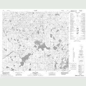 Canadian Topo Map - Mink River - Map 084B04