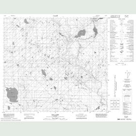 Canadian Topo Map - Bat Lake - Map 084B07