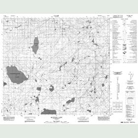Canadian Topo Map - Quitting Lake - Map 084B09