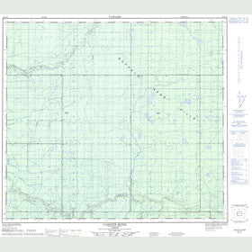 Canadian Topo Map - Cadotte River - Map 084C10